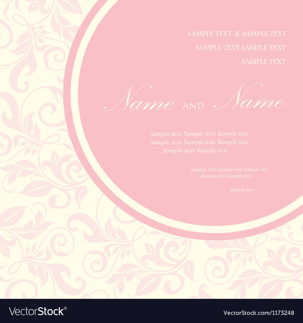 Invitation floral card vector | Price: 1 Credit (USD $1)