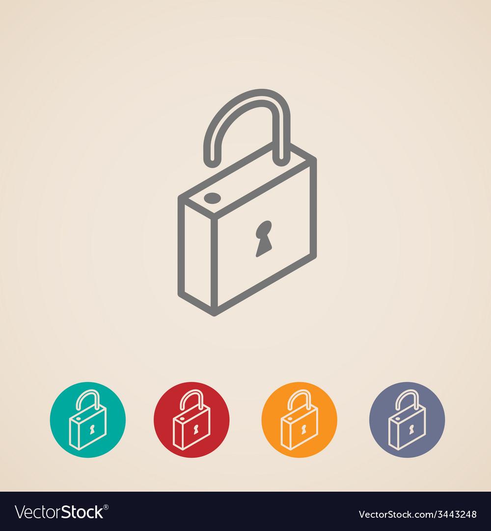 Isometric lock icons vector | Price: 1 Credit (USD $1)