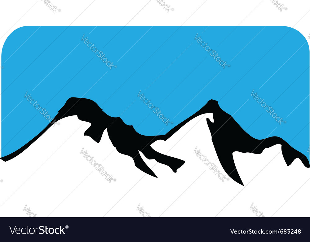 Mountain symbol vector | Price: 1 Credit (USD $1)