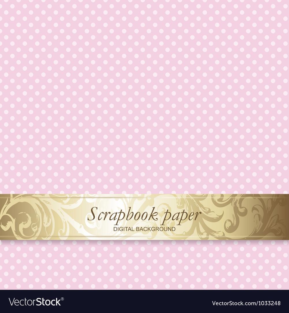 Polka dots scrapbook paper vector | Price: 1 Credit (USD $1)