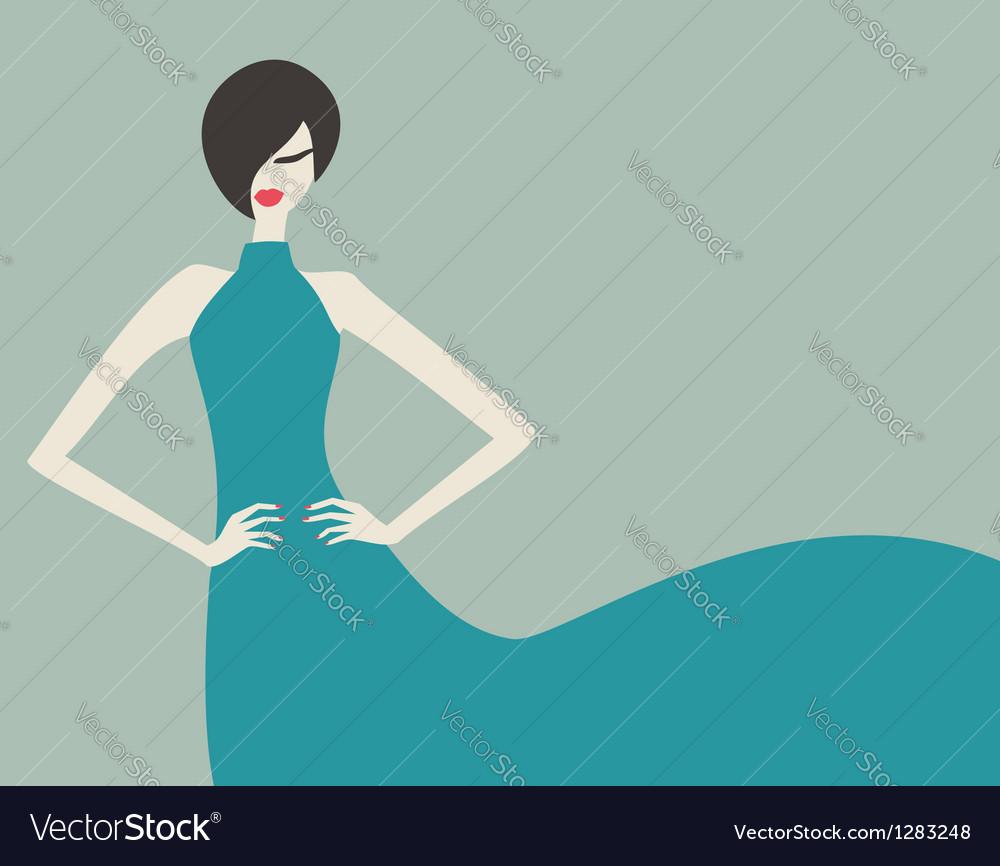 Retro fashion model vector | Price: 1 Credit (USD $1)