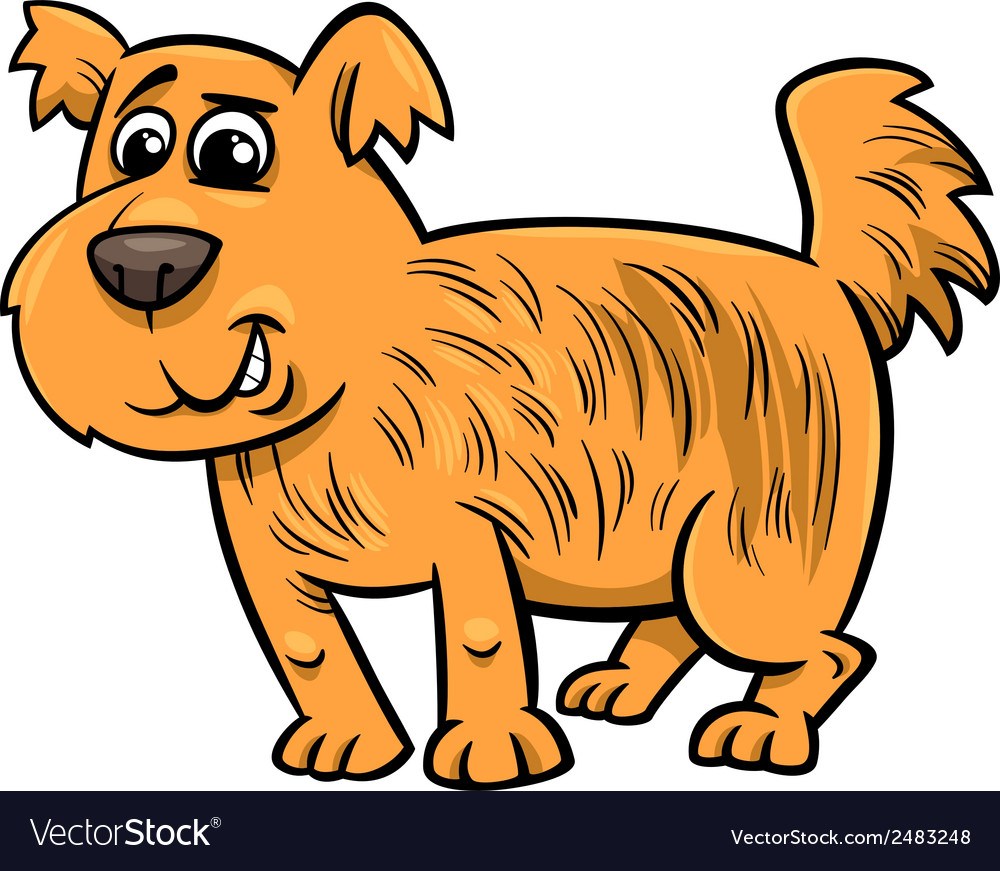 Shaggy dog cartoon vector | Price: 1 Credit (USD $1)