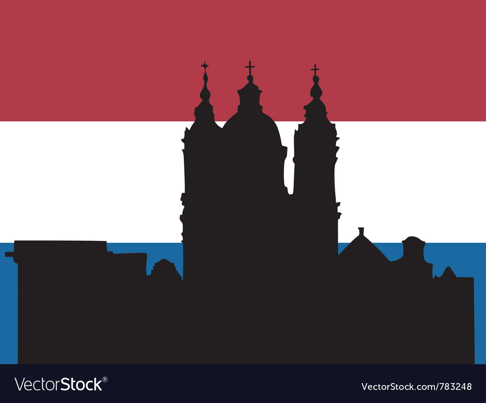 Silhouette of amsterdam vector | Price: 1 Credit (USD $1)