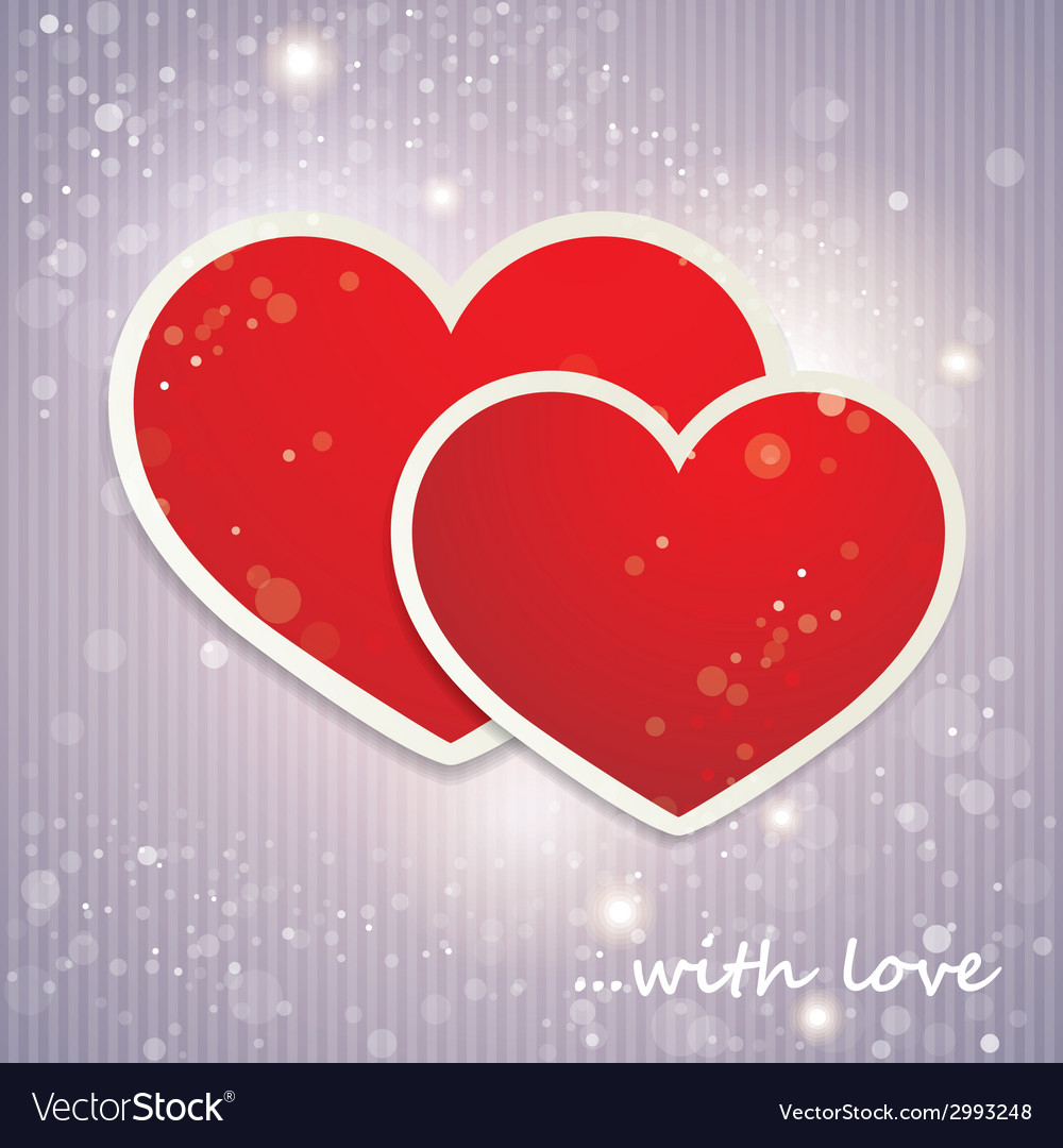 Valentines day background with hearts holiday vector | Price: 1 Credit (USD $1)
