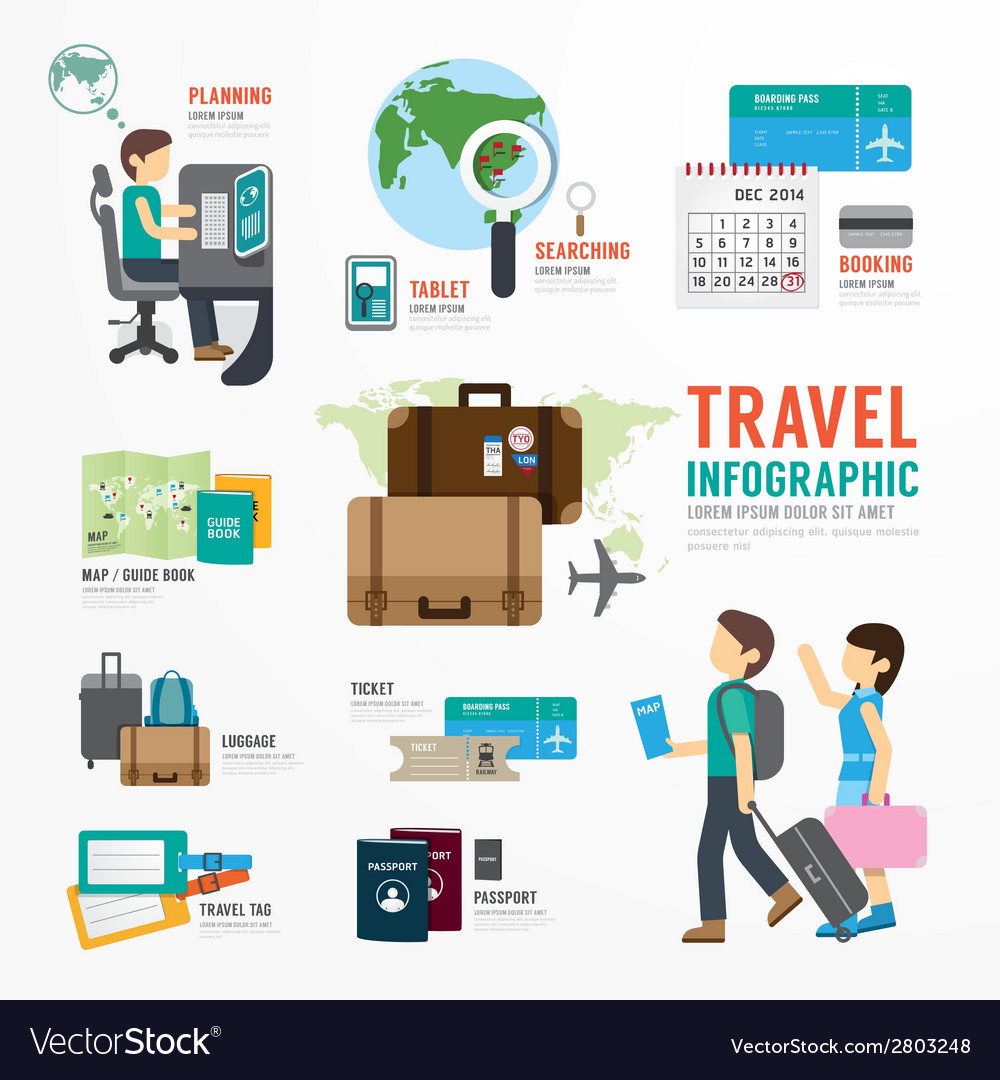 World travel business template design infographic vector | Price: 1 Credit (USD $1)