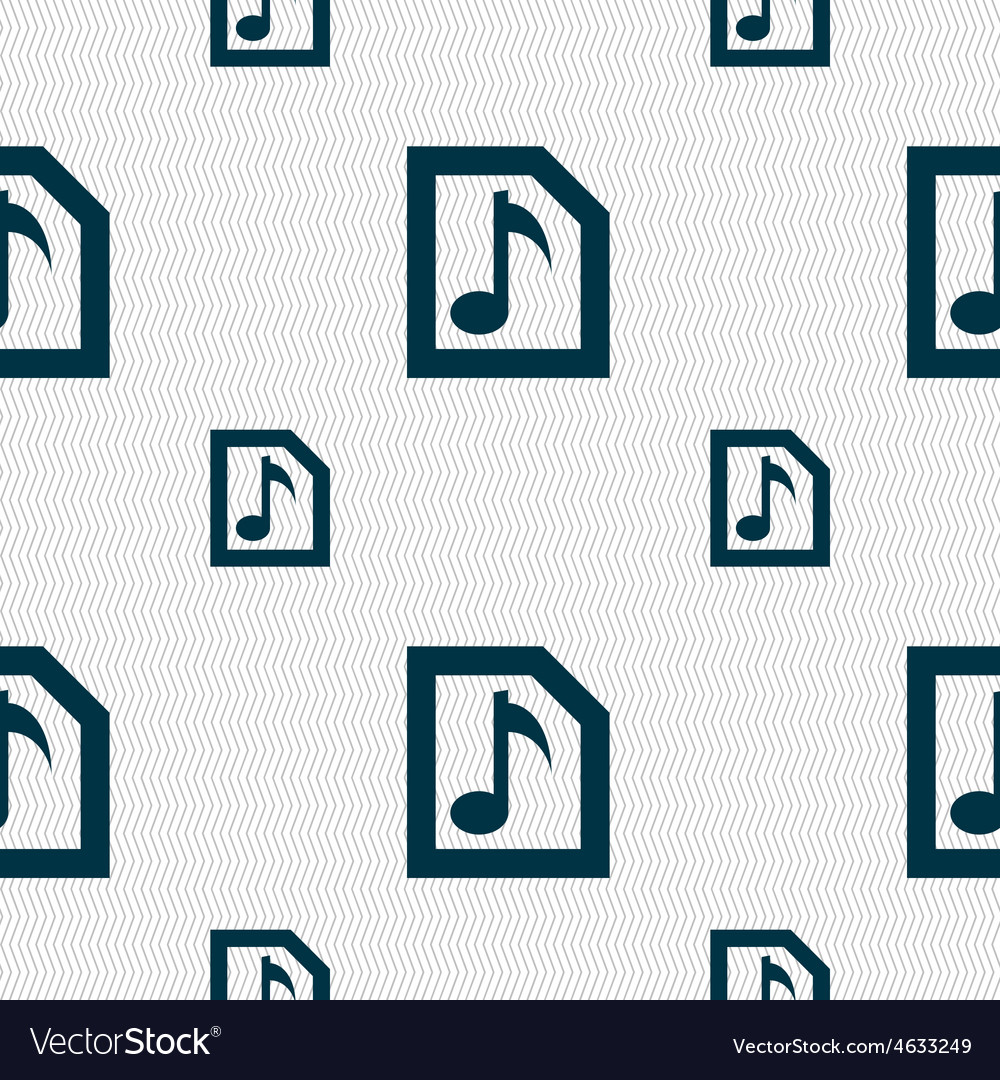 Audio mp3 file icon sign seamless pattern with vector | Price: 1 Credit (USD $1)