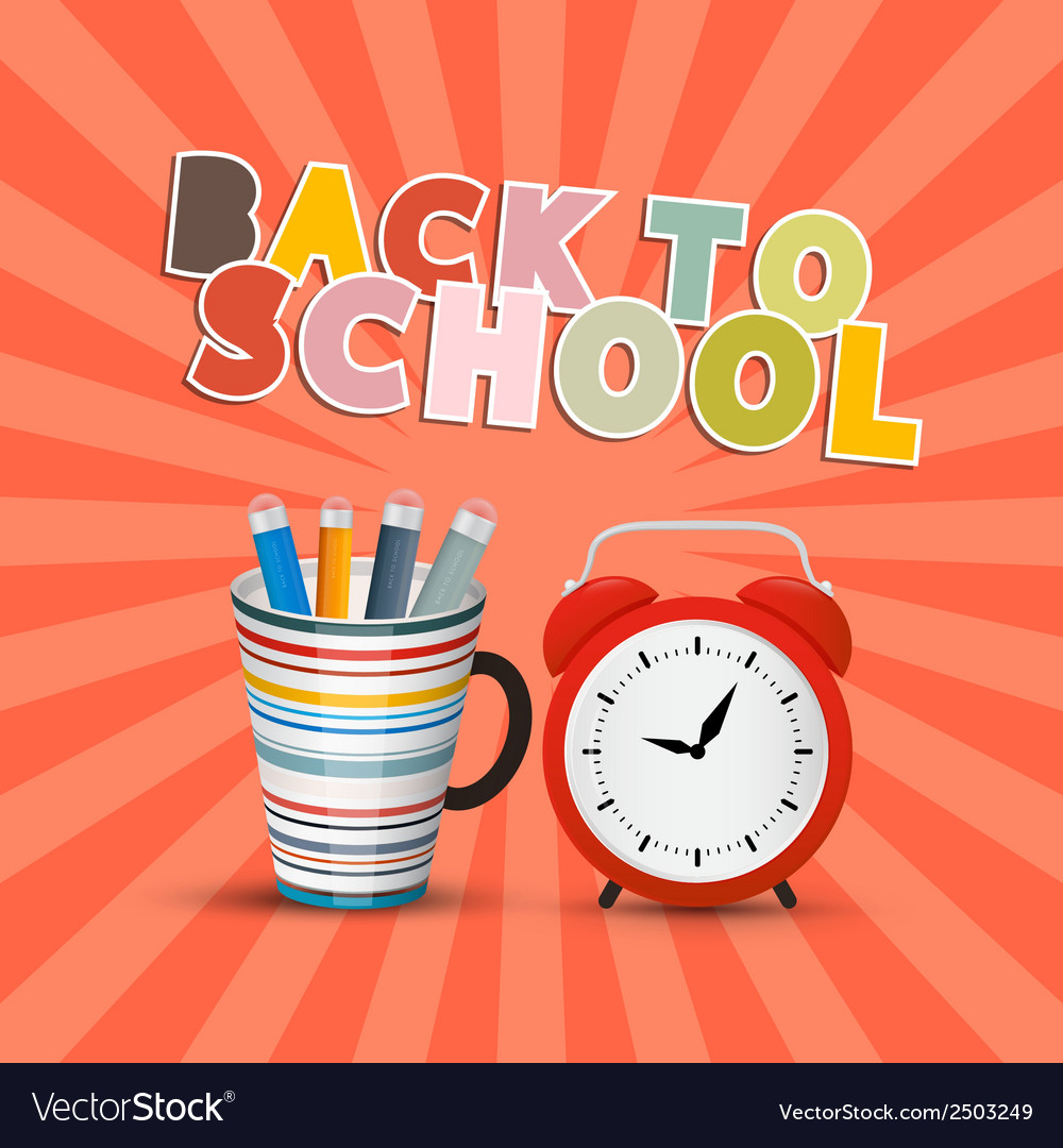 Back to school retro background with paper cut vector | Price: 1 Credit (USD $1)