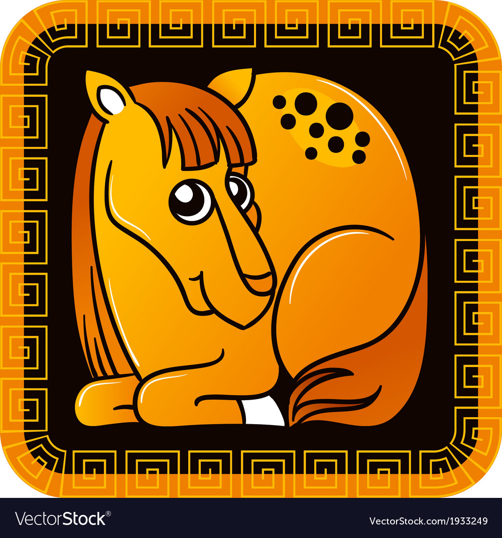 Chinese horoscope year of the horse vector | Price: 1 Credit (USD $1)