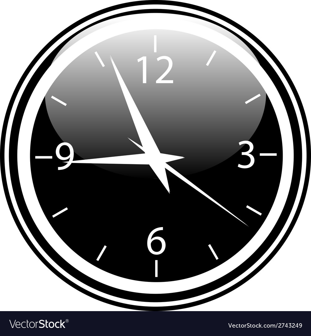 Clock button vector | Price: 1 Credit (USD $1)