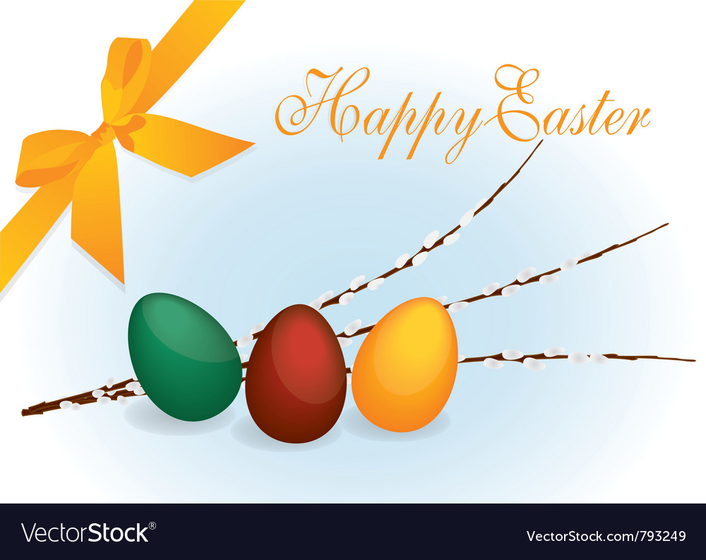 Colourful easter eggs vector | Price: 1 Credit (USD $1)