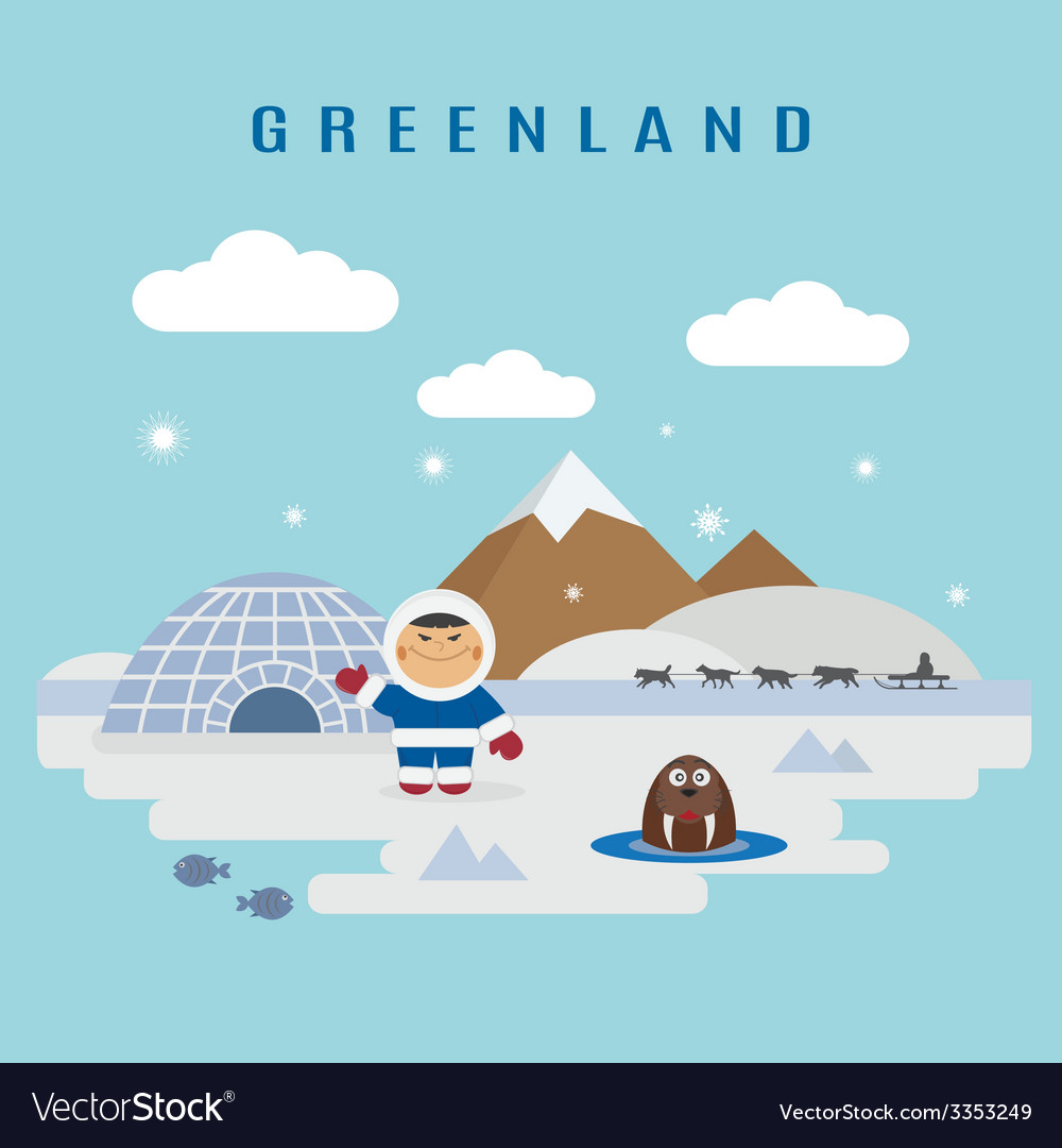 Greenland vector | Price: 1 Credit (USD $1)