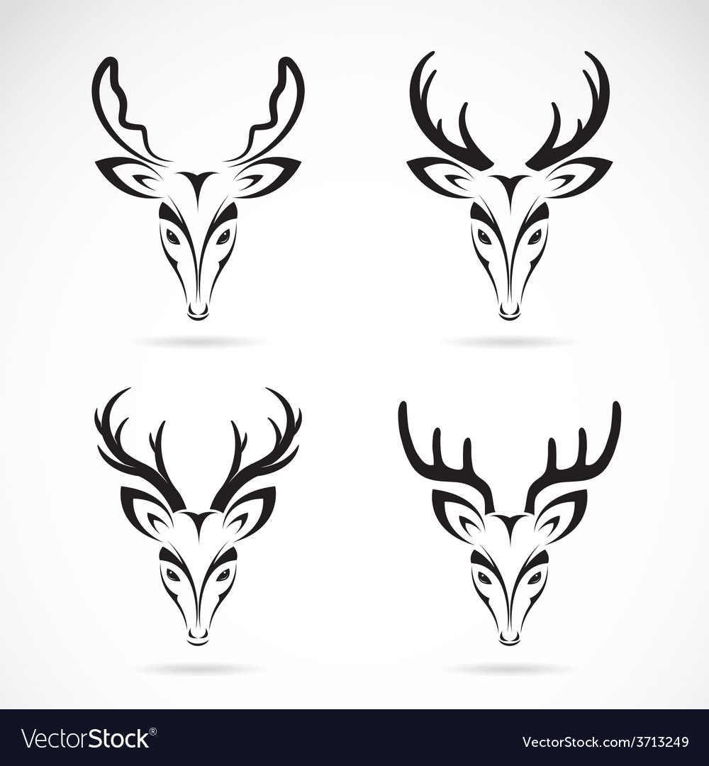 Group of deer head vector | Price: 1 Credit (USD $1)