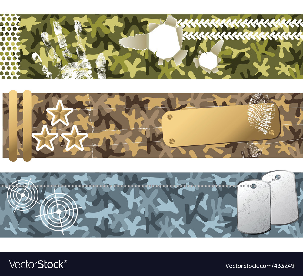 Military banners vector | Price: 1 Credit (USD $1)
