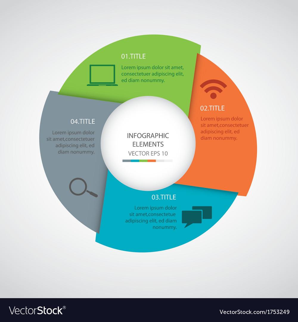 Modern infographics circle vector | Price: 1 Credit (USD $1)