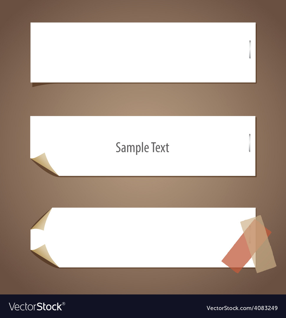 Note paper ready for your message vector | Price: 1 Credit (USD $1)