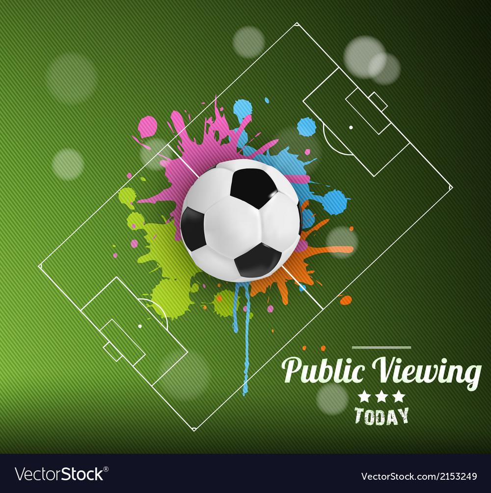 Public viewing vector | Price: 1 Credit (USD $1)