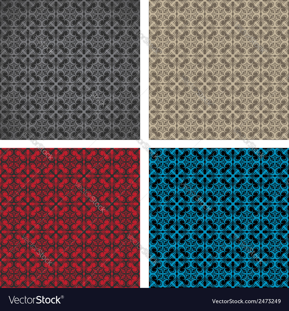 Seamless gothic pattern vector | Price: 1 Credit (USD $1)