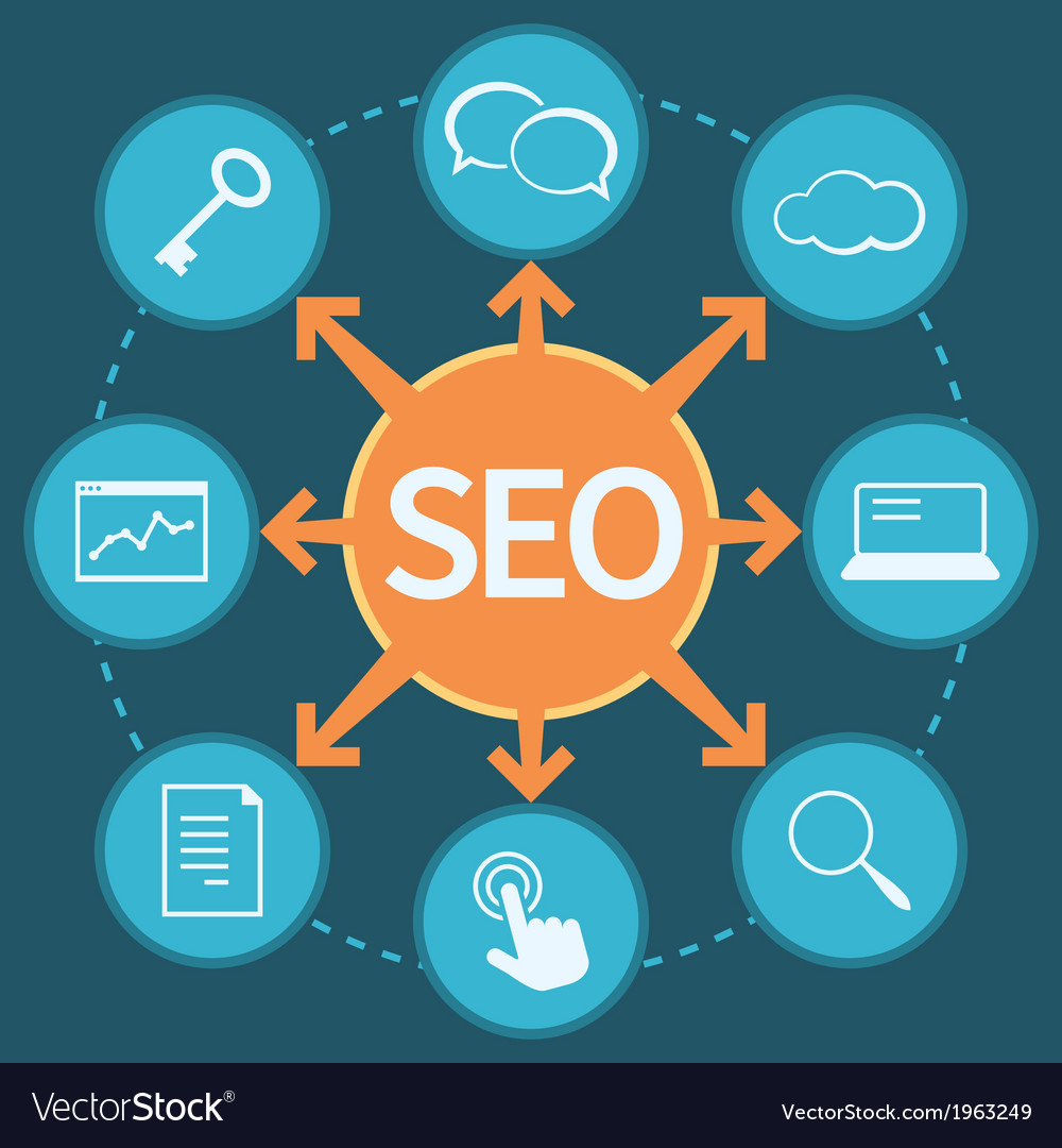 Seo marketing concept vector | Price: 1 Credit (USD $1)