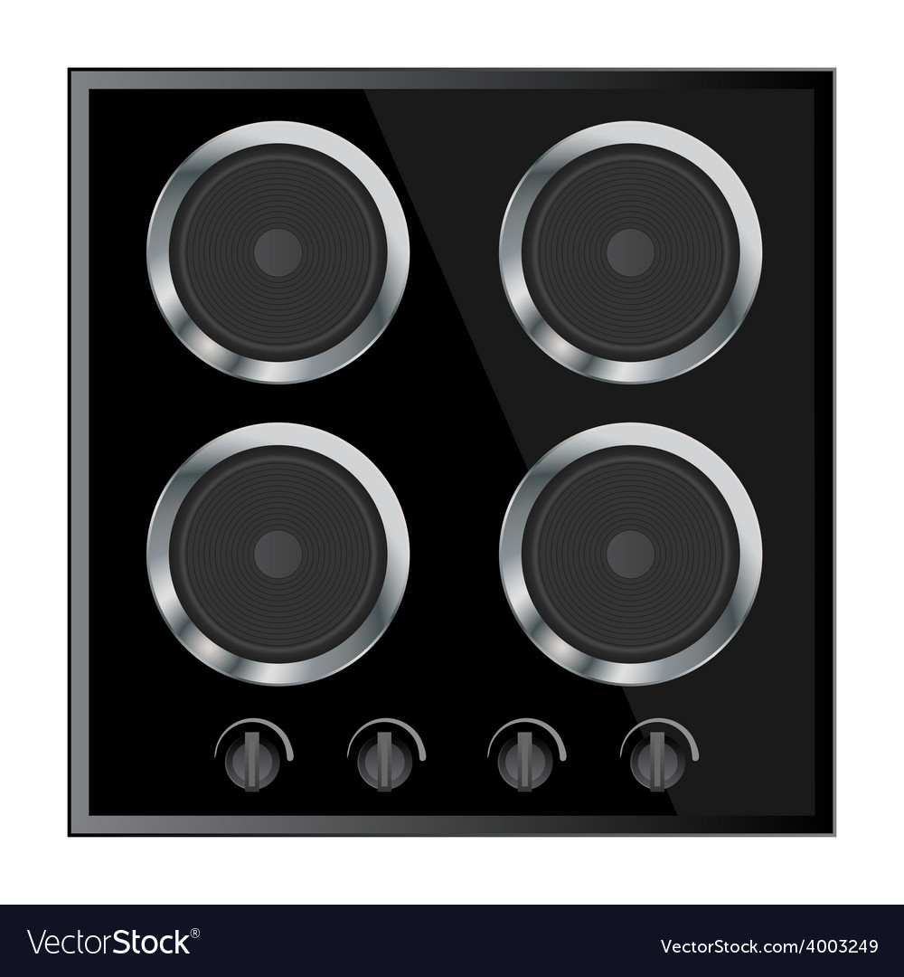 Surface for electric stove vector | Price: 1 Credit (USD $1)