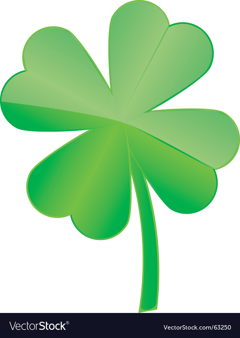 4 leaf clover vector | Price: 1 Credit (USD $1)