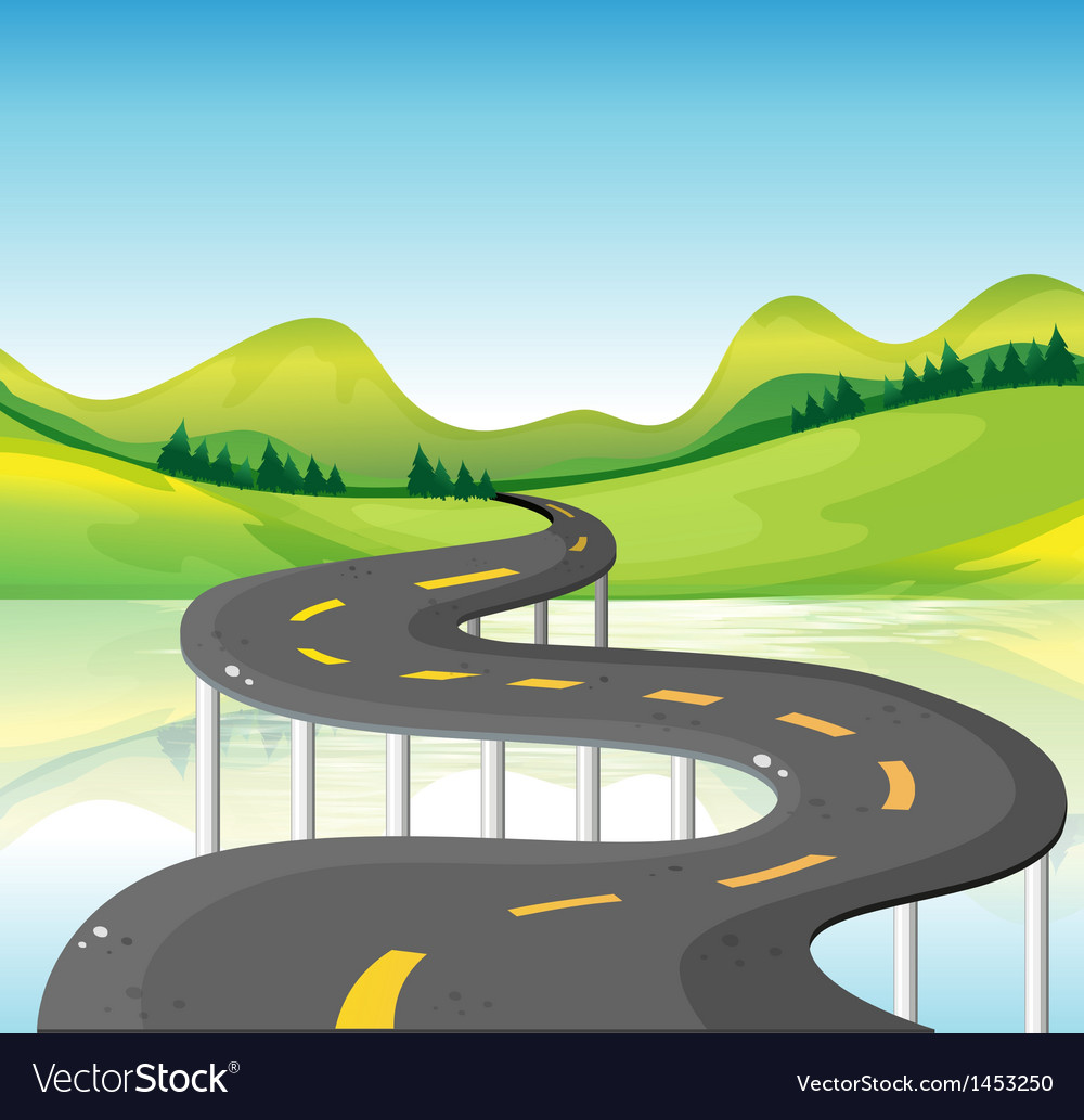 A very narrow curve road vector | Price: 1 Credit (USD $1)