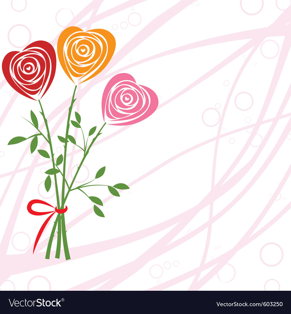 Art heart rose vector | Price: 1 Credit (USD $1)