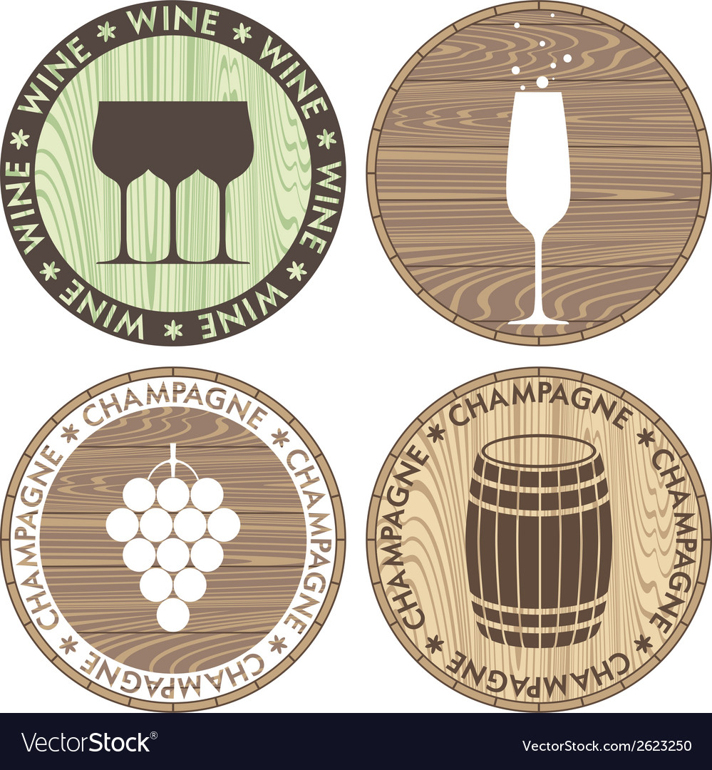Champagne wine vector | Price: 1 Credit (USD $1)