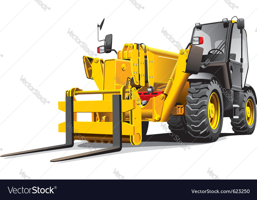 Detailed ial image of modern yellow telescopic loa vector | Price: 3 Credit (USD $3)