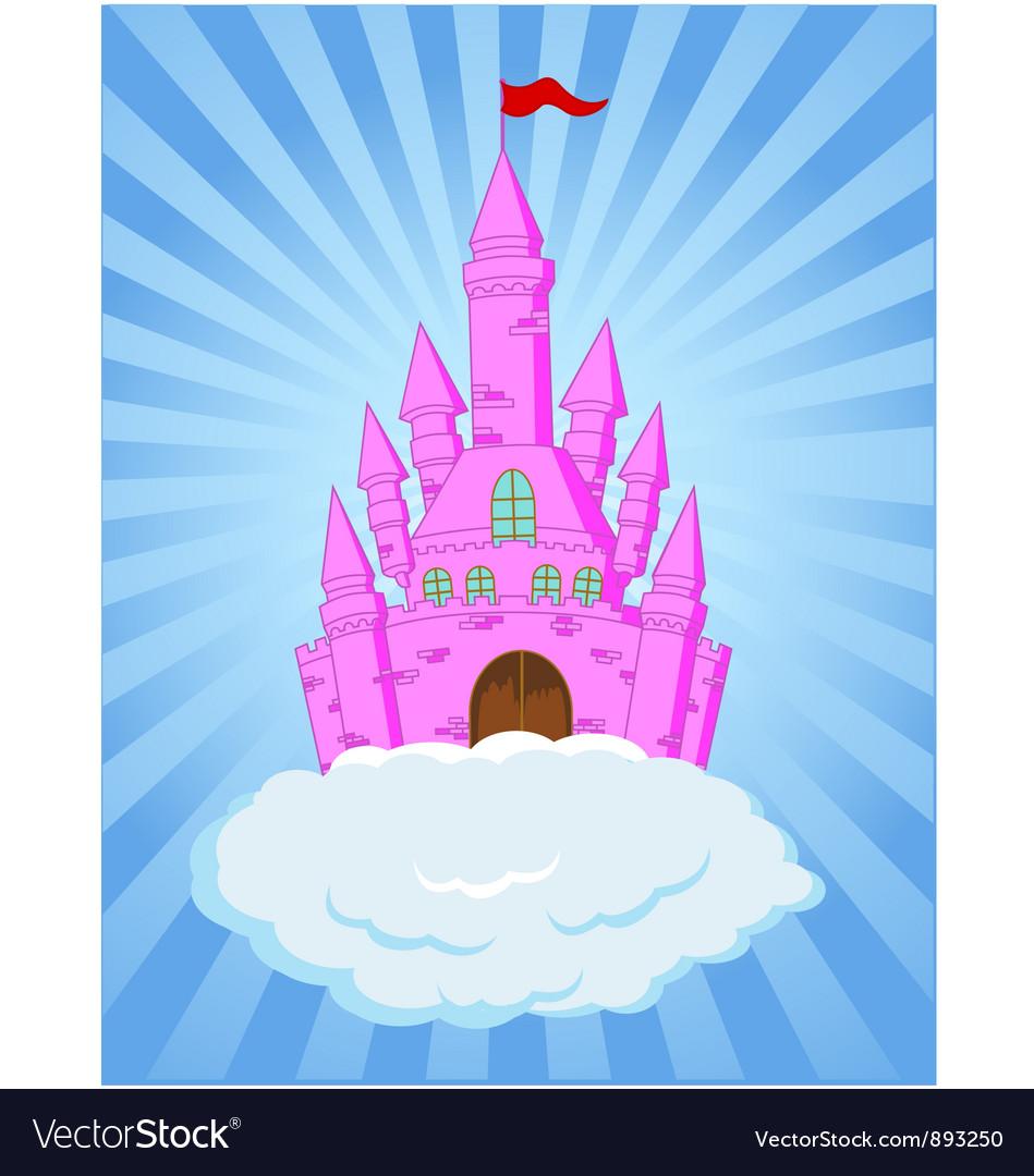 Fairy castle cartoon vector | Price: 3 Credit (USD $3)