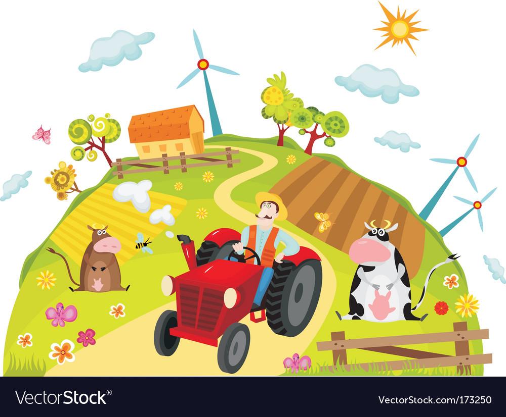 Farm vector | Price: 1 Credit (USD $1)
