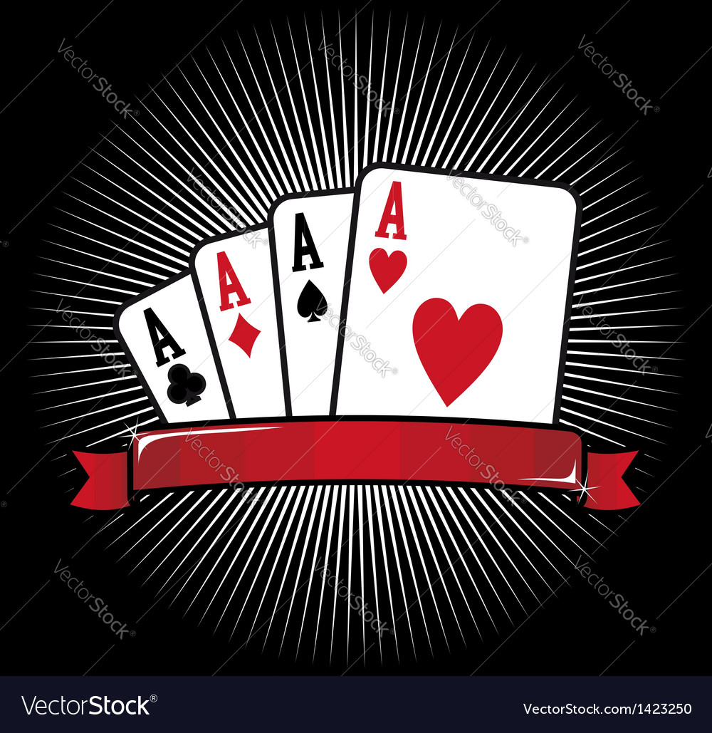 Four aces poker icon vector | Price: 1 Credit (USD $1)