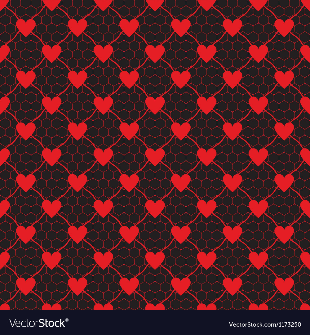 Lace pattern with heart vector | Price: 1 Credit (USD $1)