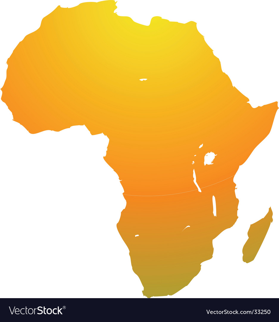 Map of africa vector | Price: 1 Credit (USD $1)