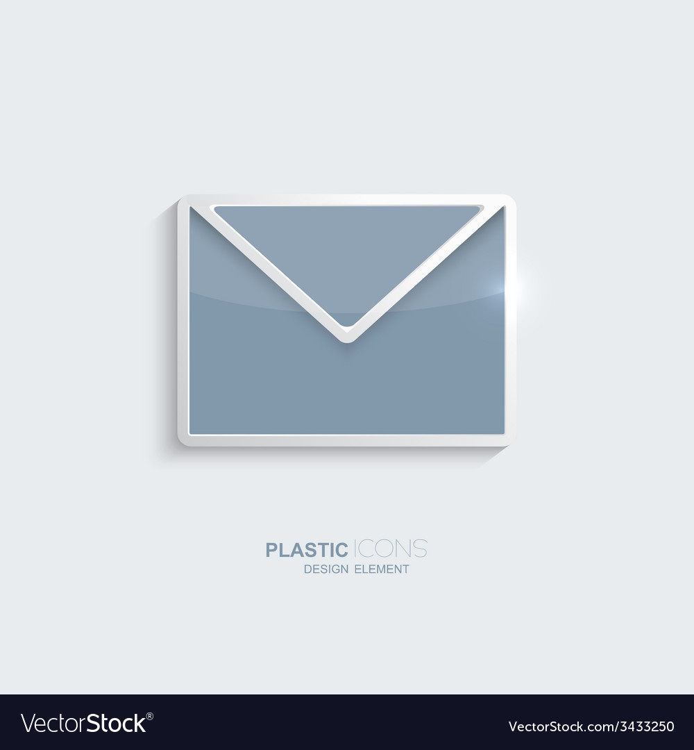 Plastic icon email symbol vector | Price: 1 Credit (USD $1)