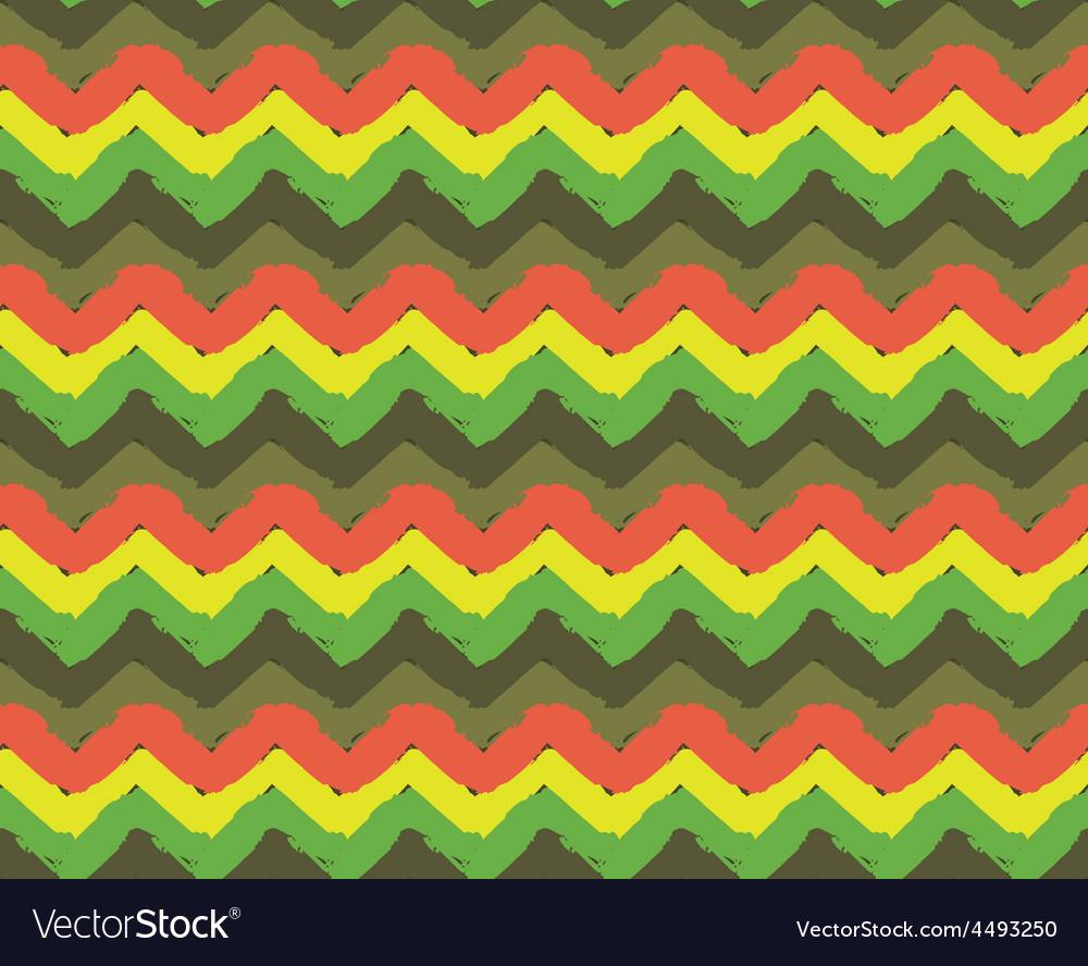 Rasta zigzag pattern vector | Price: 1 Credit (USD $1)