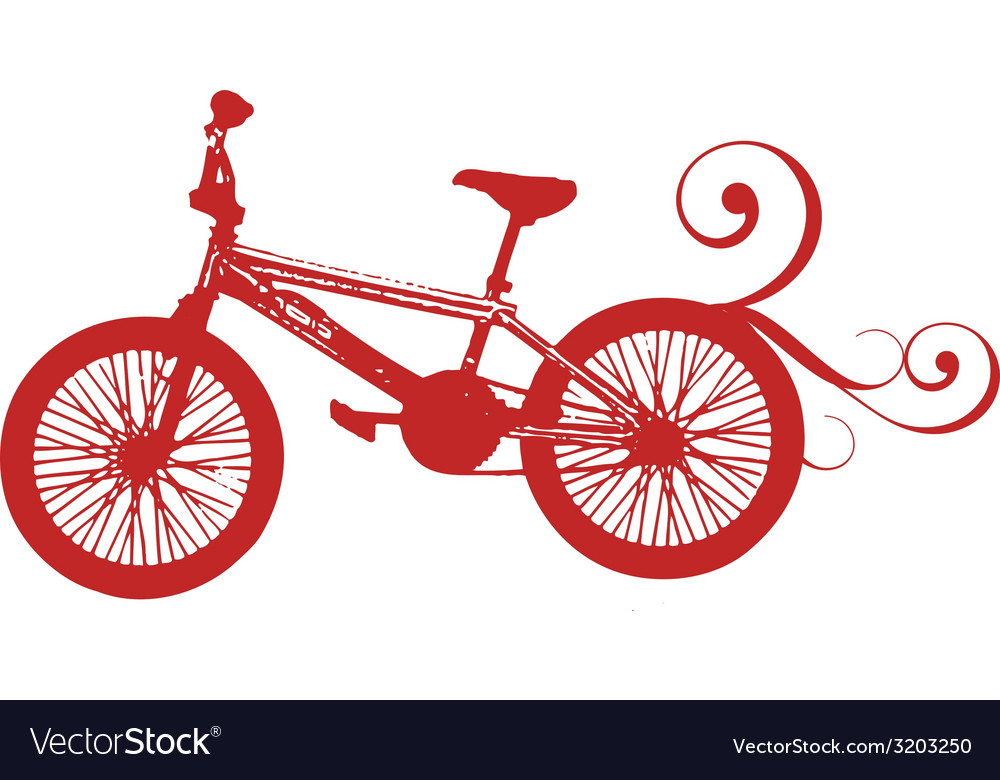 Red bikebike red bike red print bike print vector | Price: 1 Credit (USD $1)