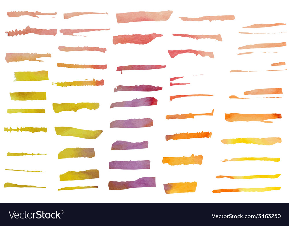 Set of watercolor brushes vector | Price: 1 Credit (USD $1)