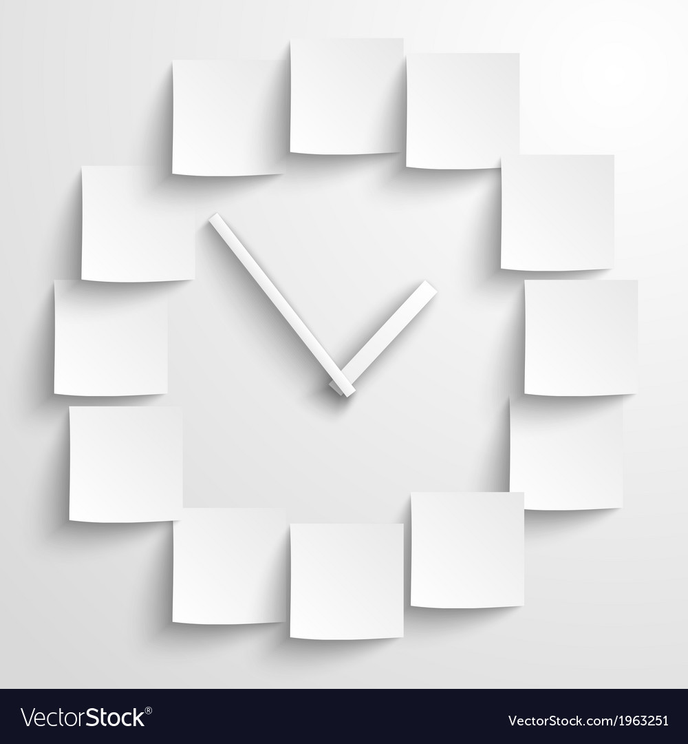 Abstract paper clock vector | Price: 1 Credit (USD $1)