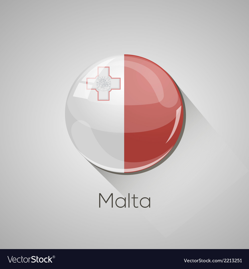 European flags set - malta vector | Price: 1 Credit (USD $1)
