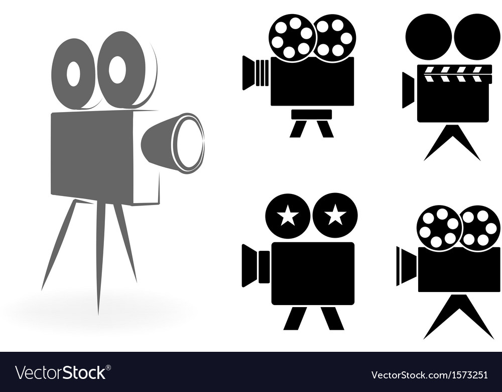 Icons of video cameras vector | Price: 1 Credit (USD $1)