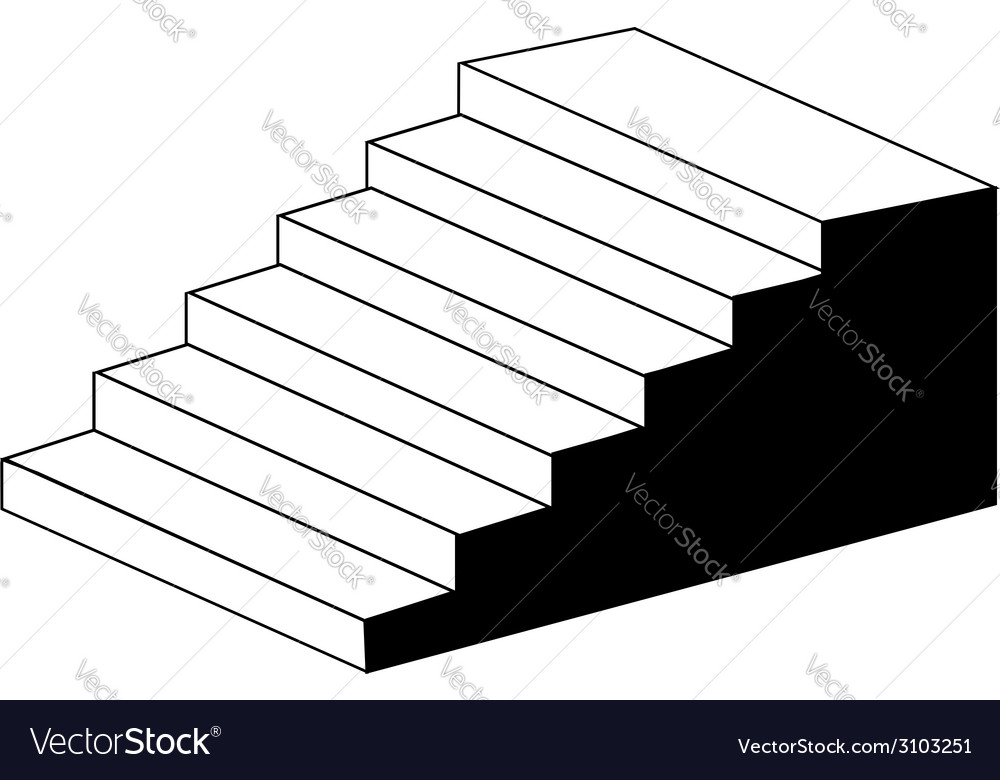 Isometric object stair- architectural 3d object vector | Price: 1 Credit (USD $1)