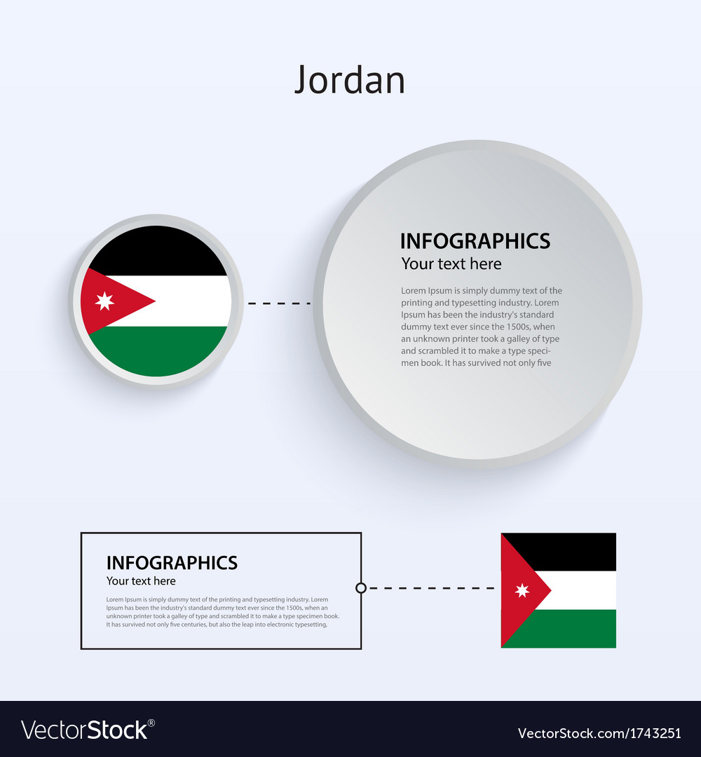 Jordan country set of banners vector | Price: 1 Credit (USD $1)