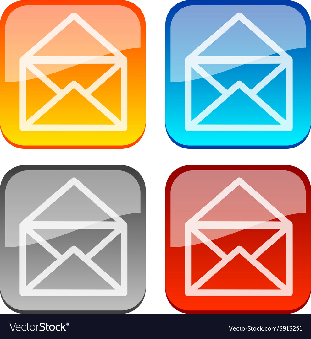 Mail buttons vector | Price: 1 Credit (USD $1)
