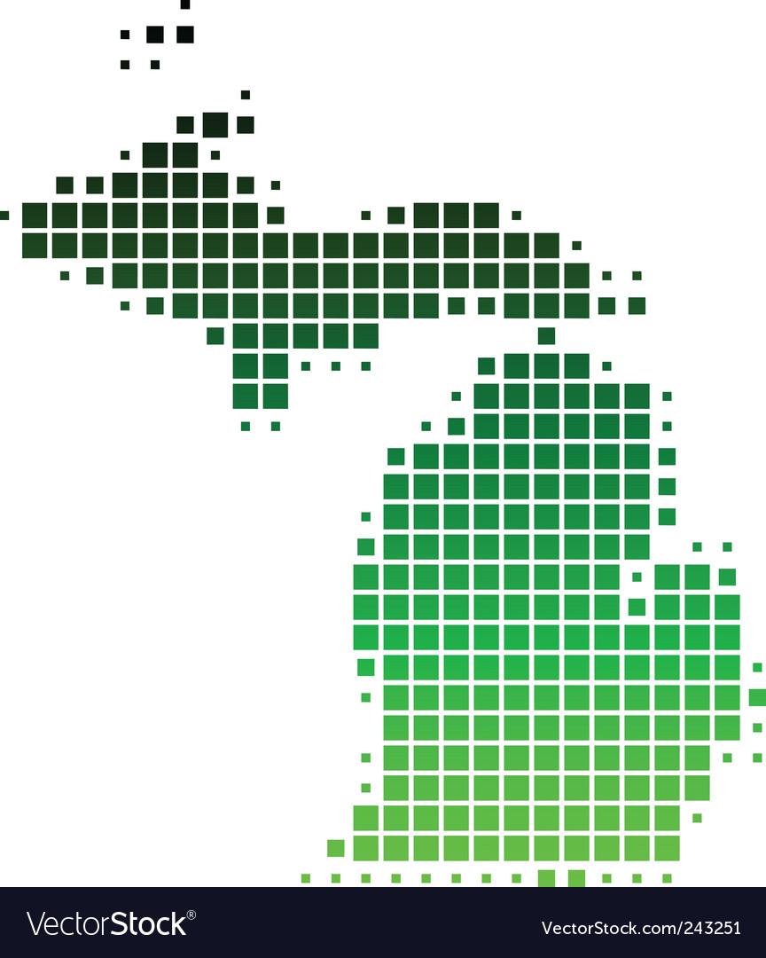 Map of michigan vector | Price: 1 Credit (USD $1)