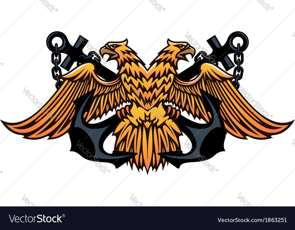 Maritime emblem with double headed eagle vector | Price: 1 Credit (USD $1)