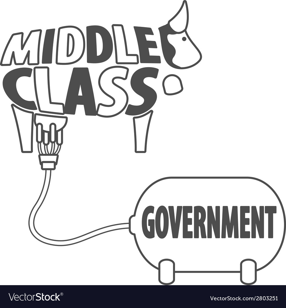 Middle class and government vector | Price: 1 Credit (USD $1)