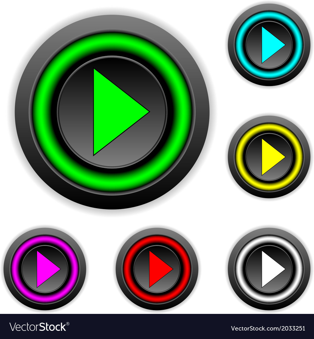 Play sign buttons set vector   Price: 1 Credit (USD $1)