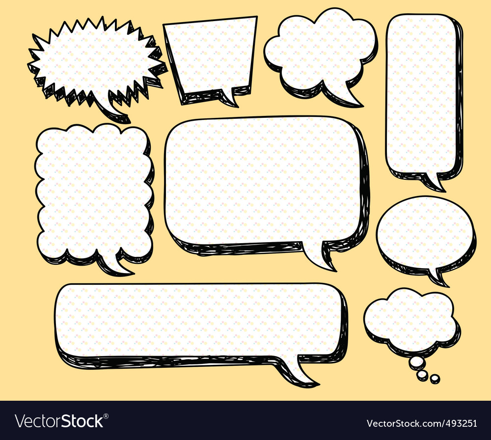 Sketchy bubble speech vector | Price: 1 Credit (USD $1)