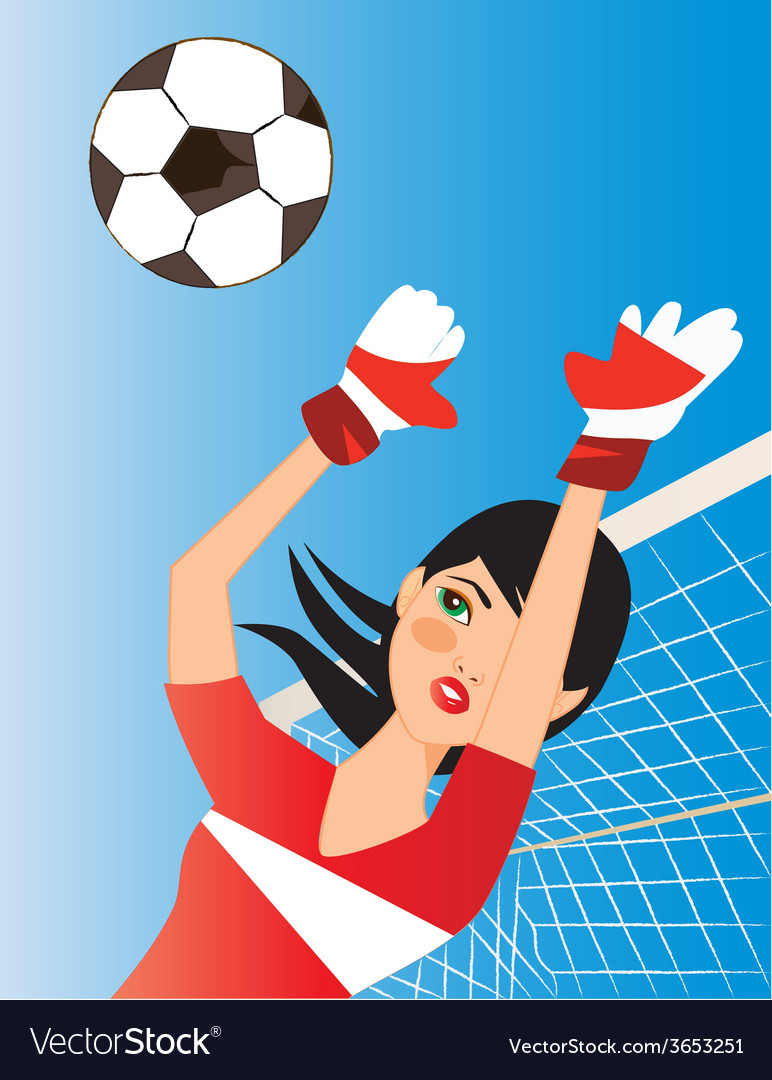 Soccer-portress vector | Price: 1 Credit (USD $1)