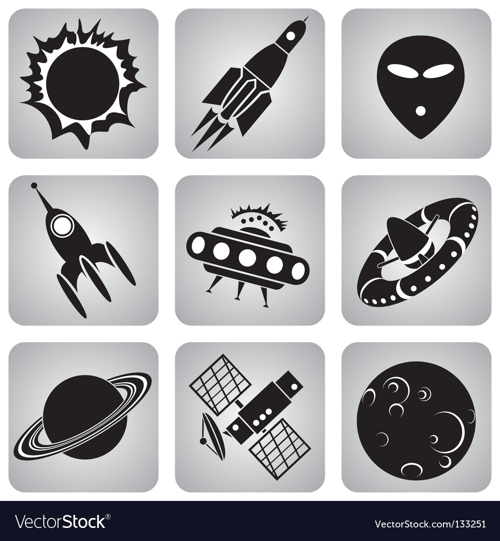 Space icons vector | Price: 1 Credit (USD $1)